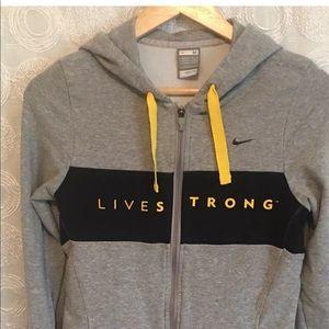 Nike livestrong hoodie zip up medium